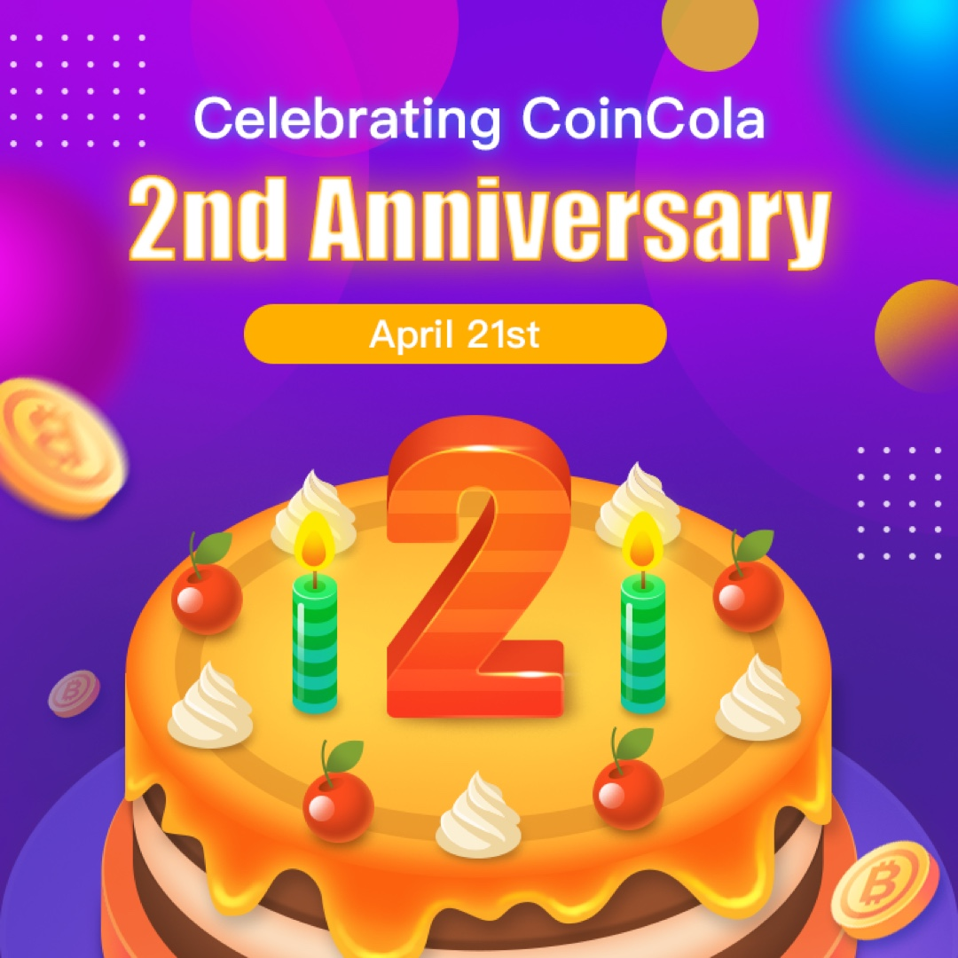 coincola 2nd anniversary