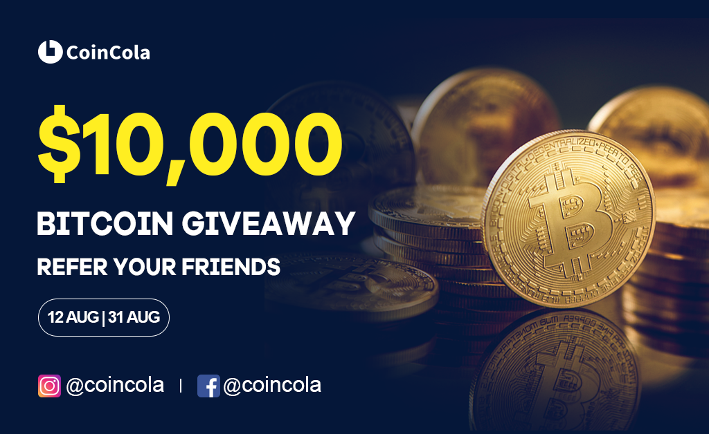 10000USD Free Bitcoin from CoinCola